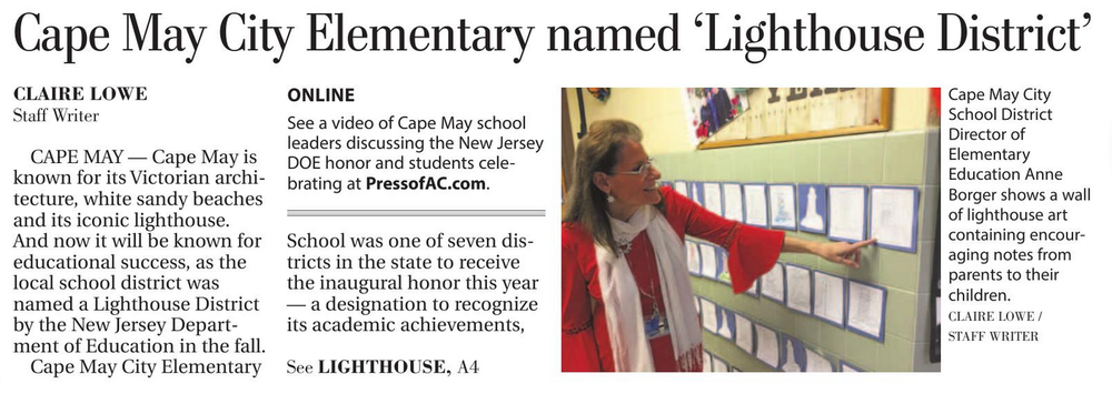 Student-driven, collaborative learning make Cape May Elementary a 'Lighthouse District'