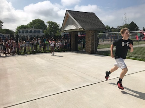 6th grader headed to the finish line