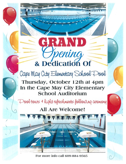 Pool Grand Opening and Dedication October 12th 2017
